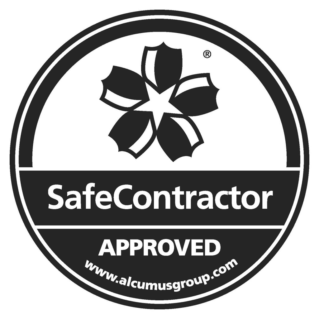 SafeContractor Accreditation Sticker Black CS6